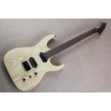 Custom Shop Black Machine 6 String Natural Finish Guitar