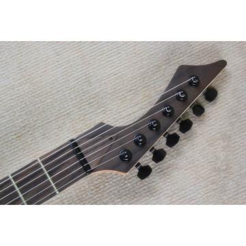 Custom Shop Black Machine 6 String Natural Finish Guitar
