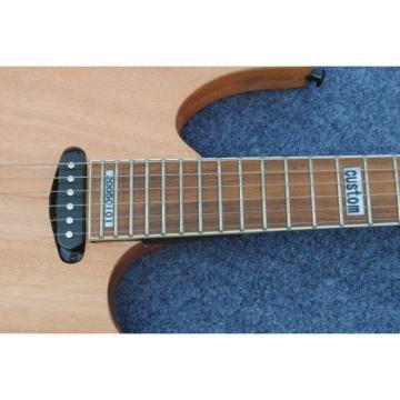 Custom Shop Black Machine 6 String Natural Black Wood Electric Guitar