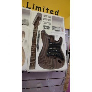 Custom Shop Unfinished Tiger Maple Rosewood Guitar Kit Stratocaster