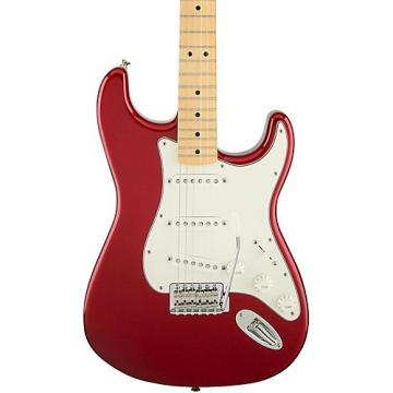 Fender Standard Stratocaster Electric Guitar with Maple Fretboard Candy Apple Red Gloss Maple Fretboard