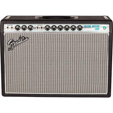 Fender '68 Custom Deluxe Reverb 22W 1x12 Tube Guitar Combo Amp with Celestion G12V-70 Speaker Black
