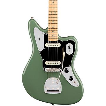 Fender American Professional Jaguar Maple Fingerboard Electric Guitar Antique Olive