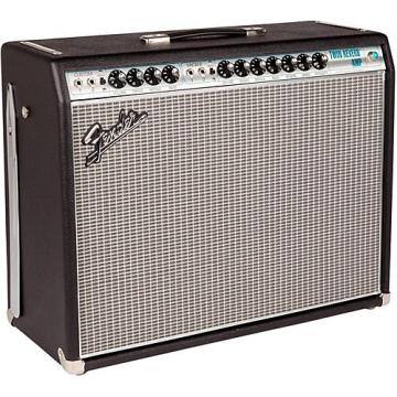 Fender '68 Custom Twin Reverb 85W 2x12 Tube Guitar Combo Amp with Celestion G12V-70s Speaker Black