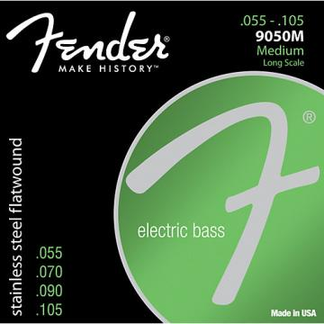 Fender 9050M Stainless Steel Flatwound Long Scale Bass Strings - Medium