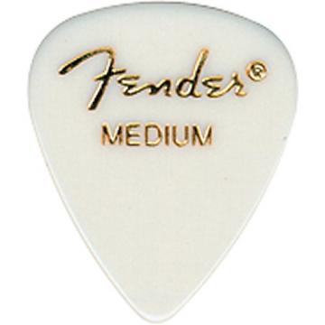 Fender 351 Standard Guitar Pick White Thin 1 Dozen