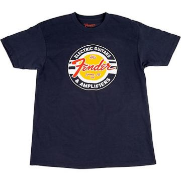 Fender Guitars and Amps Logo T-Shirt Navy Large