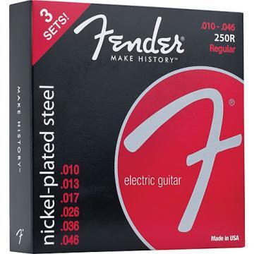 Fender 250R Super 250 Nickel-Plated Steel Electric Guitar Strings 3-Pack
