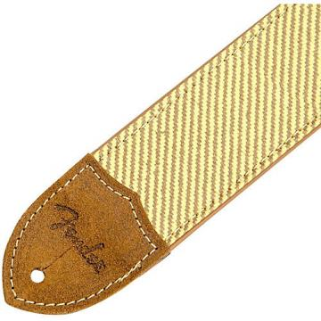 Fender Deluxe Leather Guitar Strap Tweed 2 in.