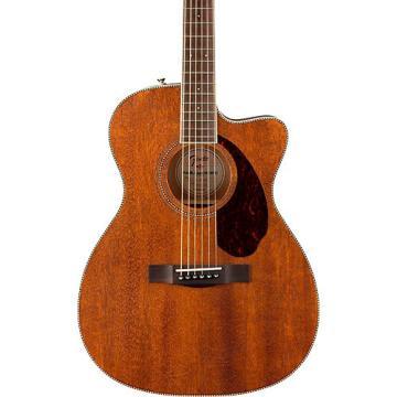 Fender Paramount Series PM-3 Standard All-Mahogany Cutaway Triple-0 Acoustic Guitar Natural