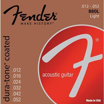 Fender 880L Coated 80/20 Bronze Acoustic Guitar Strings - Light