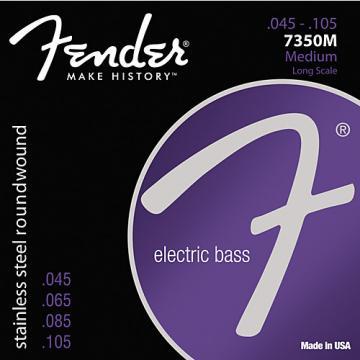 Fender 7350M Stainless Steel Long Scale Bass Strings - Medium