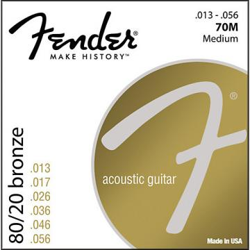 Fender 70M 80/20 Bronze Acoustic Strings - Medium