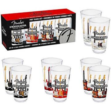 Fender Branded Pint Glasses (Set of 4)