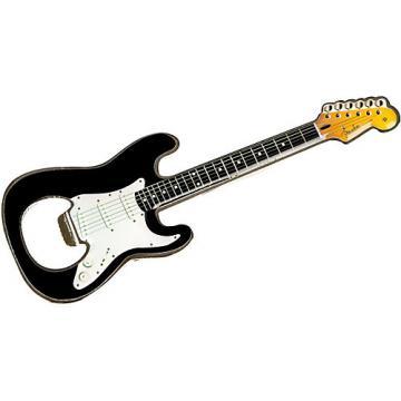 Fender Stratocaster Bottle Opener Magnet Black