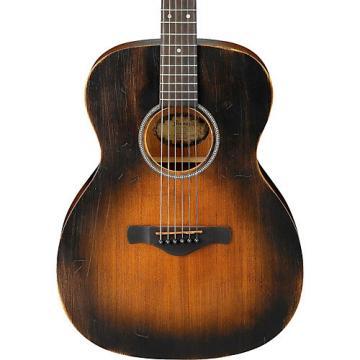 Ibanez AVC6 Artwood Vintage Distressed Grand Concert Acoustic Guitar Tobacco Sunburst