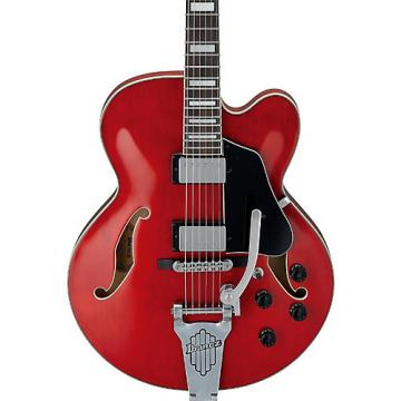 Ibanez Artcore AFS75 Hollowbody with Bigsby Style Tremolo Electric Guitar Transparent Cherry