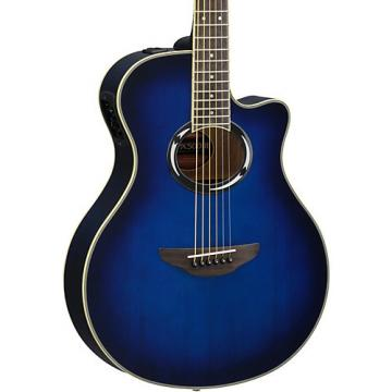 Yamaha APX500III Thinline Cutaway Acoustic-Electric Guitar Oriental Blue Burst