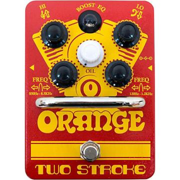 Orange Amplifiers Two-Stroke Boost EQ Guitar Effects Pedal