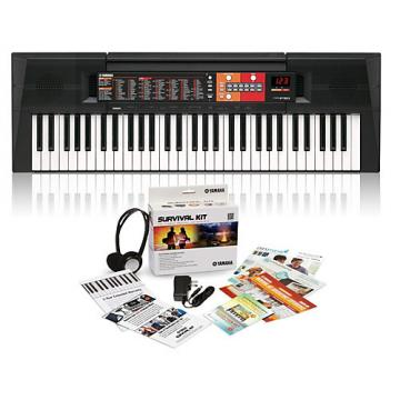 Yamaha PSR-F51 61-Key Portable Keyboard with Survival Kit A2