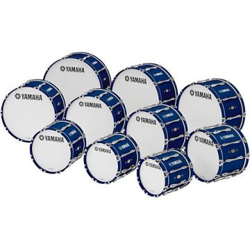 "Yamaha 18"" x 14"" 8300 Series Field-Corps Marching Bass Drum Blue Forest"