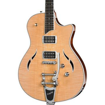 Chaylor T3/B Semi-Hollowbody with Bigsby Electric Guitar Natural