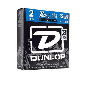 Dunlop Nickel Plated Steel Bass Strings - Medium 5-String 2 Pack