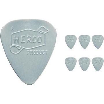 Dunlop Herco Vintage 66' Heavy Picks Silver (6-Pack)