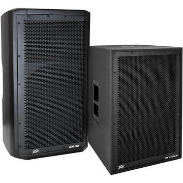 Peavey Dark Matter DM 112 Powered Speaker and DM115 Sub