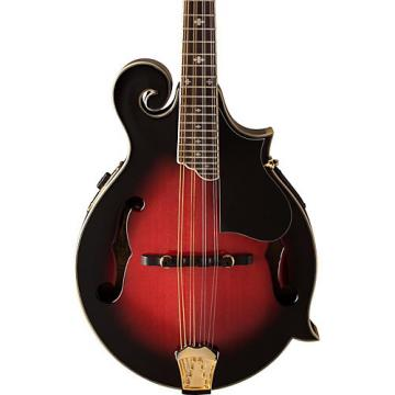 Washburn M3SWE F-Style Acoustic-Electric Mandolin with Case Transparent Wine Red