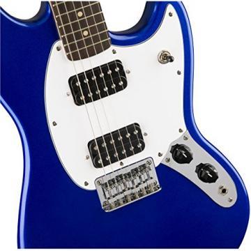 Squier by Fender Bullet Mustang Electric Guitar - HH - Rosewood Fingerboard - Imperial Blue