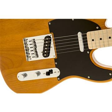Squier by Fender Affinity Telecaster Beginner Electric Guitar - Maple Fingerboard, Butterscotch Blonde