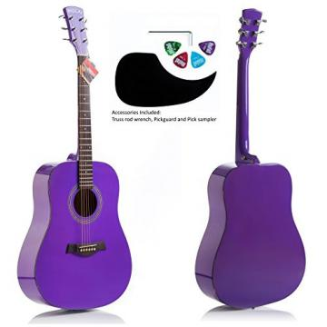 "Hola! HG-41PP (41"" Full Size) Deluxe Dreadnought Acoustic Guitar, Purple"