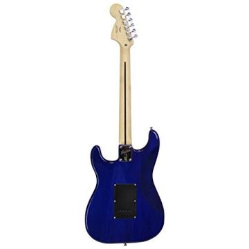 "Squier by Fender ""Stop Dreaming, Start Playing"" Set: Affinity Series Strat with Fender Frontman 10G Amp, Tuner, Instructional DVD, Gig Bag, Cable, Strap, and Picks - Transparent Blue"