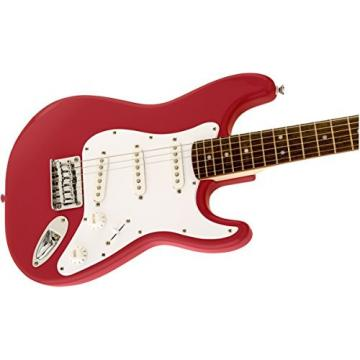 "Squier by Fender ""Mini"" Strat Beginner Electric Guitar, Rosewood Fingerboard - Torino Red"