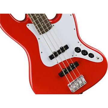Squier by Fender Affinity Jazz Beginner Electric Bass Guitar - Rosewood Fingerboard, Race Red