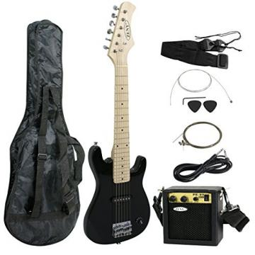 "Zeny 30"" Kids Electric Guitar with Amp & Much More Guitar Combo Accessory Kit, Black"