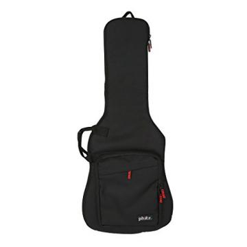 3/4 Size Electric Guitar Case—Durable, Padded, Soft Carrying Gig Bag with Backpack Straps, Black by Phitz