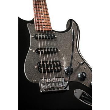 Squier Affinity Series Stratocaster HSS Electric Guitar Montego Black Metallic