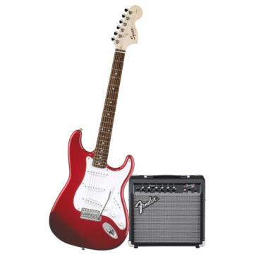 Squier Stop Dreaming-Start Playing Set: Affinity Special w/ Fender 15G Amplifier, Metallic Red