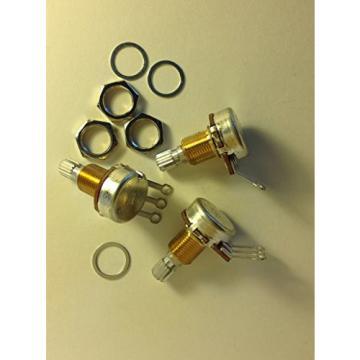3 Bourns 250KA 18T Knurled 3/8 US Spec Pots Squier Strat Upgrade Potentiometers