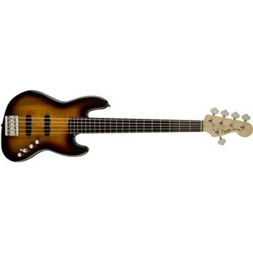 Squier by Fender Deluxe Active Jazz Bass V String, 3 Tone Sunburst