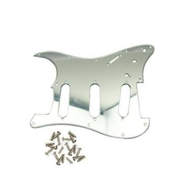 IKN Mirror 3Ply SSS Guitar Pickguard Scratch Plate w/Screws for Strat Squier Style Guitar