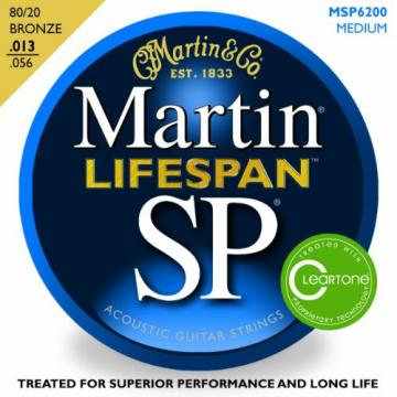 Martin MSP6200 SP Lifespan 80/20 Bronze Medium Acoustic Guitar Strings