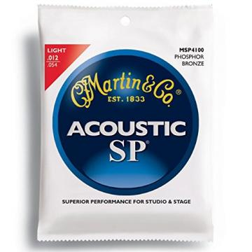 New Case of (12) Sets Msp4100 Phosphor Bronze Martin Sp Guitar Strings Light""