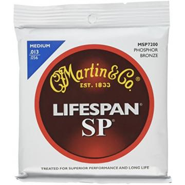 Martin MSP7200 SP Lifespan 92/8 Phosphor Bronze Medium Acoustic Guitar Strings