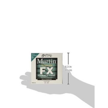 Martin FX130 Silk & Phosphor Acoustic Guitar Stings, Custom Light