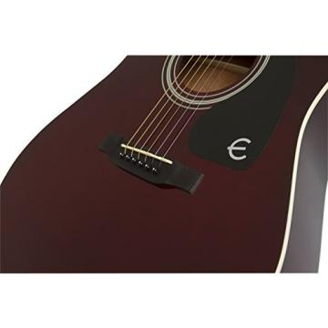 Epiphone EAFTWRCH3 FT-100 Jumbo Acoustic Guitar, Wine Red