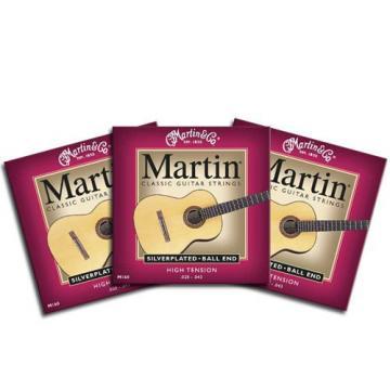 Martin Silver Classic Guitar Strings Ball End High Tension 28-43 M160 3 Packs