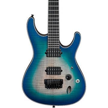 Ibanez Iron Label S Series SIX6FDFM Electric Guitar Blue Space Burst